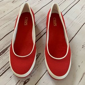 Chaps Charleen Red Slip On Shoes